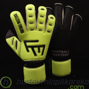 RĘKAWICE BRAMKARSKIE FOOTBALL MASTERS TRAINING FLUO BLACK AQUA MIXCUT FR JUNIOR