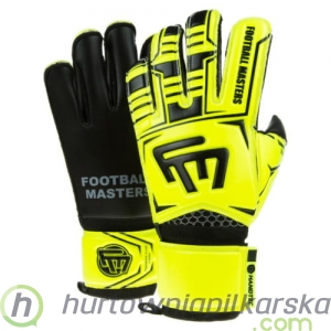RĘKAWICE BRAMKARSKIE FOOTBALL MASTERS TRAINING FLUO BLACK AQUA MIXCUT FR JUNIOR v 2.0